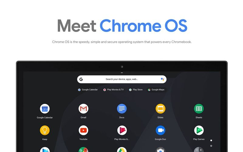 Meet ChromeOS, the Windows OS and MacOs Challenger